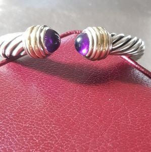 David Yurman 10mm Amethyst Bracelet With Gold
